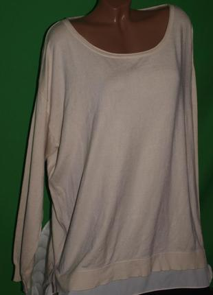 Мягкий вискозный свитер (5-6 хл замеры) к телу приятный ,цвет телесный.