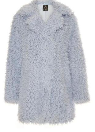 Трендовая пушистая шубка (шуба), плюшевое пальто