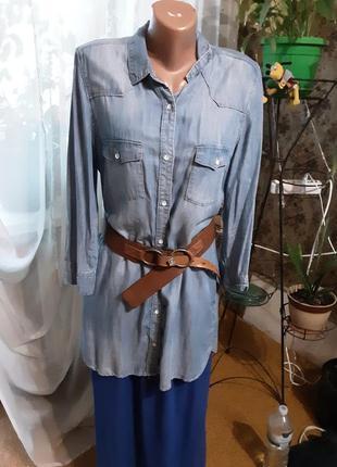 Джинсовая рубашка (платье) от h&m