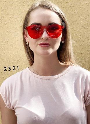 Модные красные желтые черные розовые синие очки без оправы