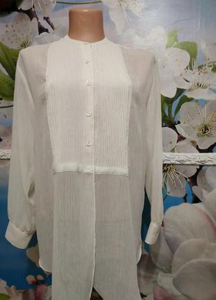 Роскошная  винтажная шифоновая блуза м -l