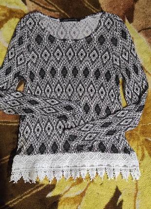 Кофта блуза лонгслив летняя zara