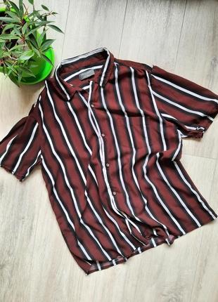 Рубашка примарк primark размер l мужская шведка сорочка с коротким рукавом одежда