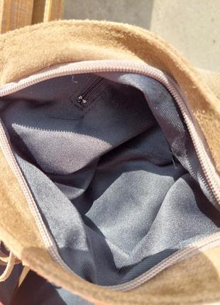 Сумка-планшетка с бахромой (замша)6 фото