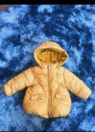 Курточка демми zara 74-80 см(9-12 місяців), куртка весна осень 9-12