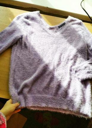 Сиреневый свитер травка от marks & spencer