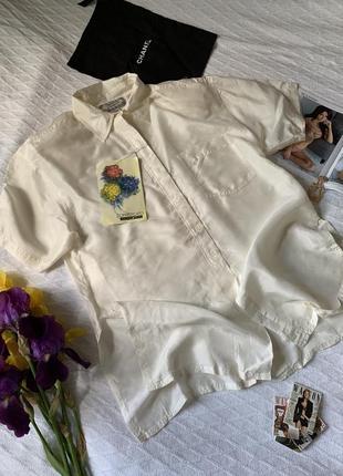 Шелковая витражная блуза из 90х с подплечниками