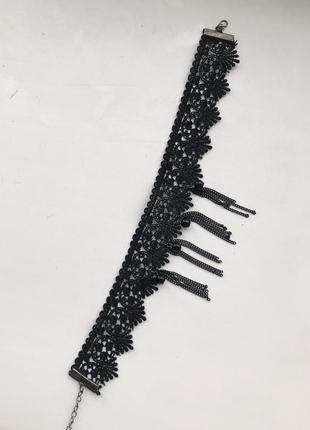 Чорний ажурний чокер