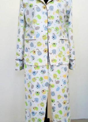 Пижама женская фланелевая теплая