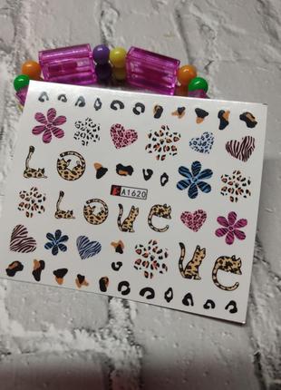 Наклейки для ногтей маникюра дизайна наклейки для нігтів манікюру