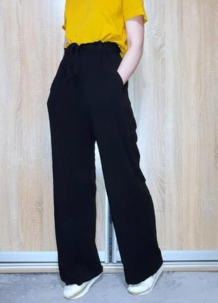 Классные широкие свободные брюки штаны палаццо из вискозы h&m