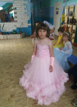 Шикарное выпускное платье облачко