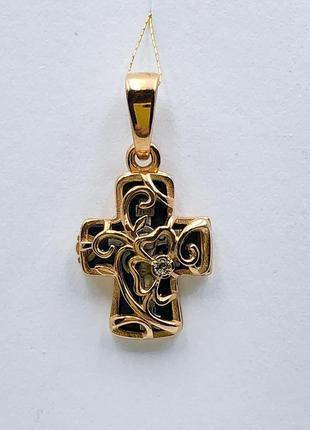 Кулон крестик женский детский, серебро 925, позолота 999 мода 2021