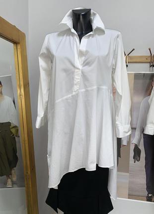 Белая блуза рубашка zara