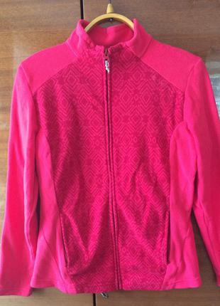 Крутая актуальная розовая спортивная кофта h&m decathlon флисовая на для спорта фитнеса