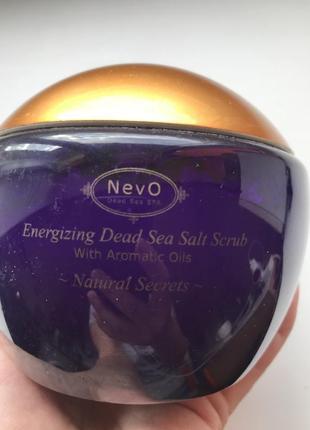 Пилинг для тела с содержанием солей из мертвого моря natural secrets 840 g