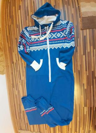 Комбез/ ромпер/пижама на флисе/ костюм для дома большой размер/баталл