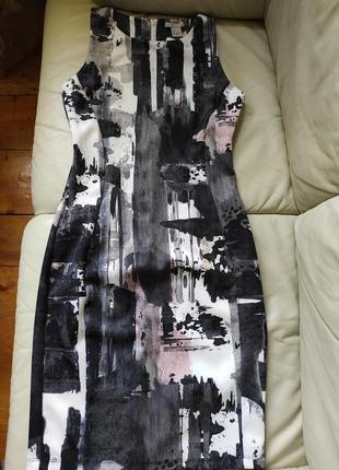 Новое силуэтное платье h&m