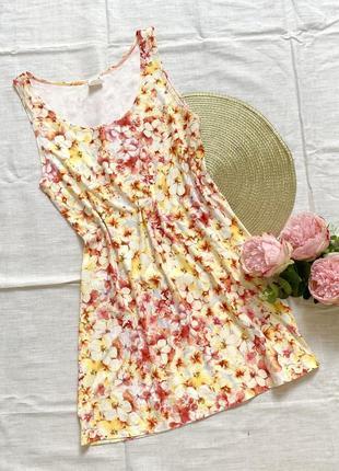 Ночнушка платье пеньюар цветочный принт