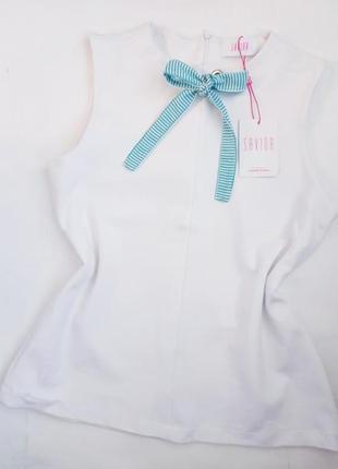 Белый топ блуза с бантом savida