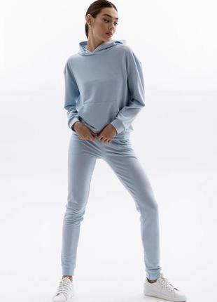 Голубой костюм худи и штаны