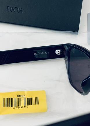 Чёрные солнцезащитные очки christian dior inside out оригинал!3 фото