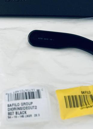 Чёрные солнцезащитные очки christian dior inside out оригинал!4 фото