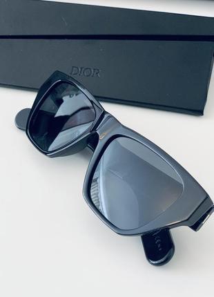 Чёрные солнцезащитные очки christian dior inside out оригинал!7 фото