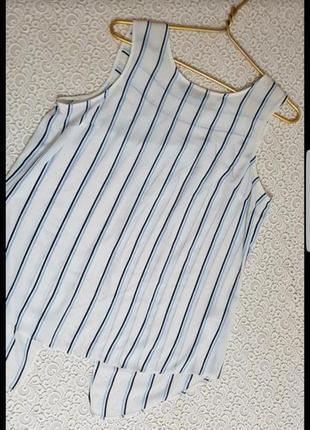 Майка блуза в полоску без рукавов
