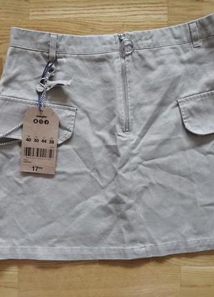 Джинсовая хлопковая юбка jennyfer
