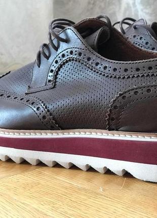 Шкіряні броги туфли мужские кожаные броги 43