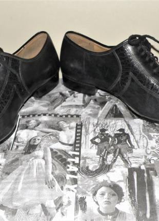 Кожаные туфли на шнурках р.402 фото