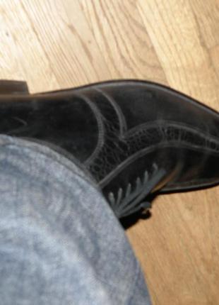 Кожаные туфли на шнурках р.404 фото