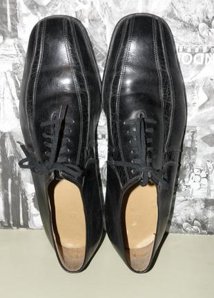 Кожаные туфли на шнурках р.403 фото