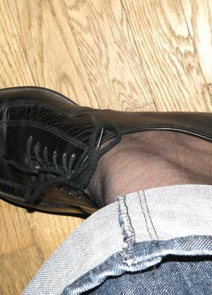Кожаные туфли на шнурках р.409 фото