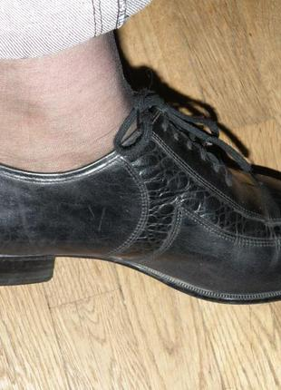 Кожаные туфли на шнурках р.407 фото