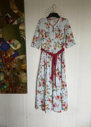 Платье собственного пошива hand made из хлопка.