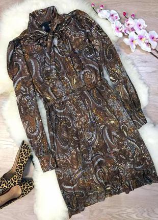 Женственное вискозное платье mango