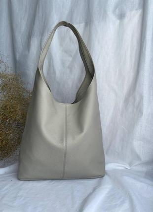 Новинка! сумка женская шоппер кожаная на длинных ручках производство италия