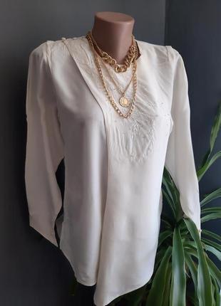 Шикарная винтажная блуза из 100% шелка 🔥