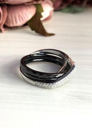 Серебряное кольцо silverbreeze с керамикой (1903988) 19 размер