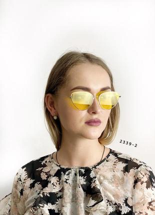 Солнцезащитные желтые очки
