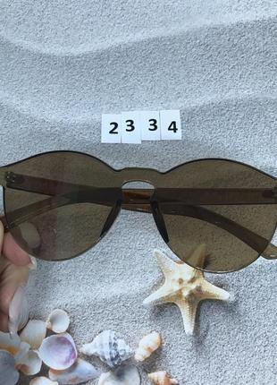 Коричневые очки без оправы лето 20212 фото