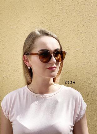 Коричневые очки без оправы лето 20211 фото