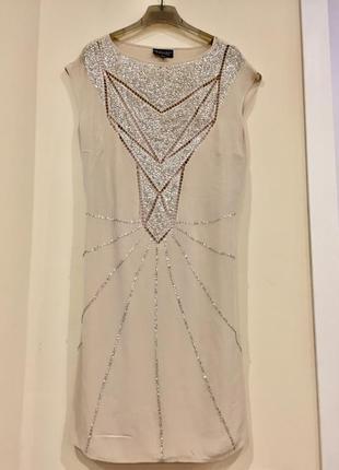 Шикарное шелковое платье с рубашкой
