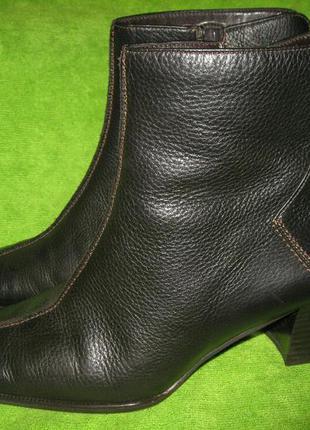 Ботинки gabor, р.37 стелька 24,5см кожа