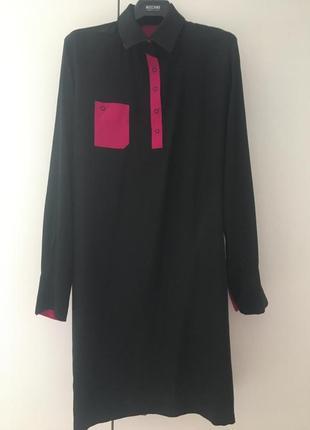 Платье-рубашка шелковая