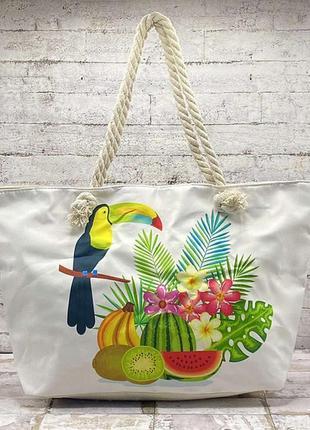 Барвиста пляжна сумка