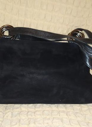 Кожаная и замшевая сумка. италия