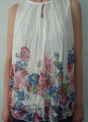 Очаровательная блуза (италия) /воздушная майка на подкладке #50%шелк, 50%вискоза#